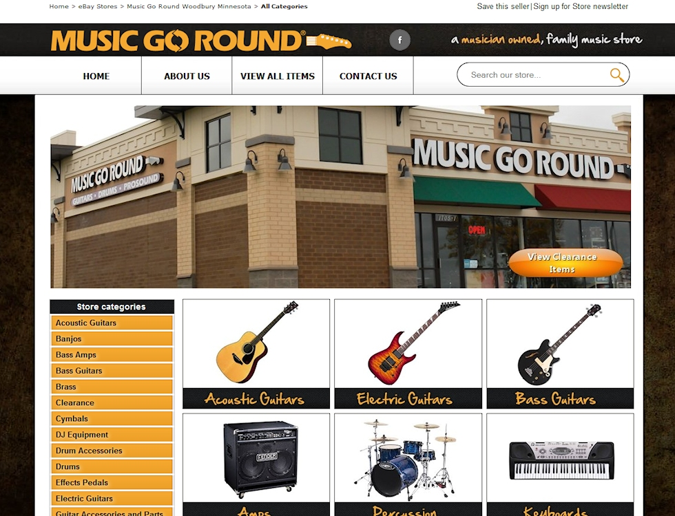 Music GoRound eBay Design